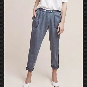 Anthropologie Chambray Bradley Pants by Hei Hei